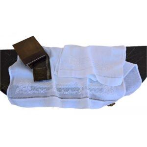 """Coppia asciugamani lino """"ASC010"""""""